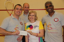 Collecting the cheque - £403.50