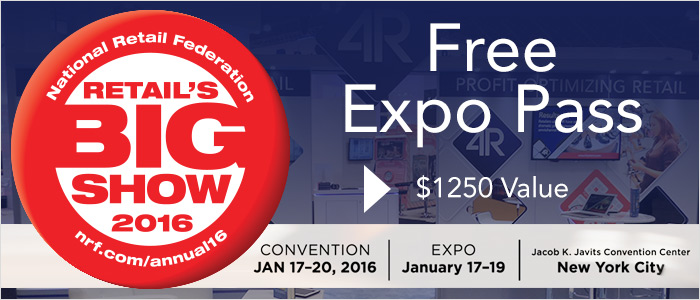 Download Free Expo Pass to NRF 2016