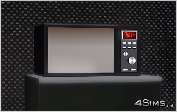 A New Premium Microwave Oven For A Sims 3 High Class Kitchen 4Sims
