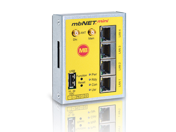 Productoverzicht mbNET.mini secure remote access router