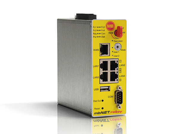 Productoverzicht mbNET.rokey secure remote access router