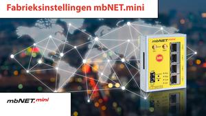 4S-video Fabrieksinstellingen laden mbNET.mini