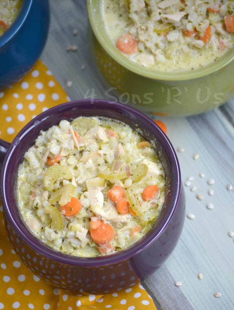 Crockpot Chicken And Pesto Soup