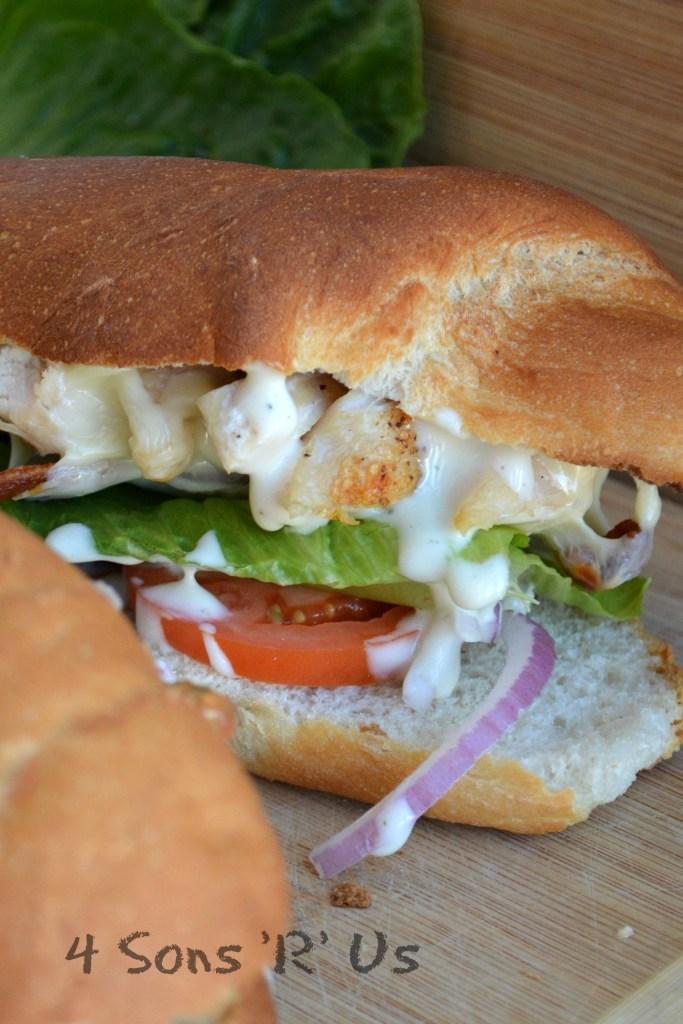 Chicken Bacon Ranch Sub Sandwich 2