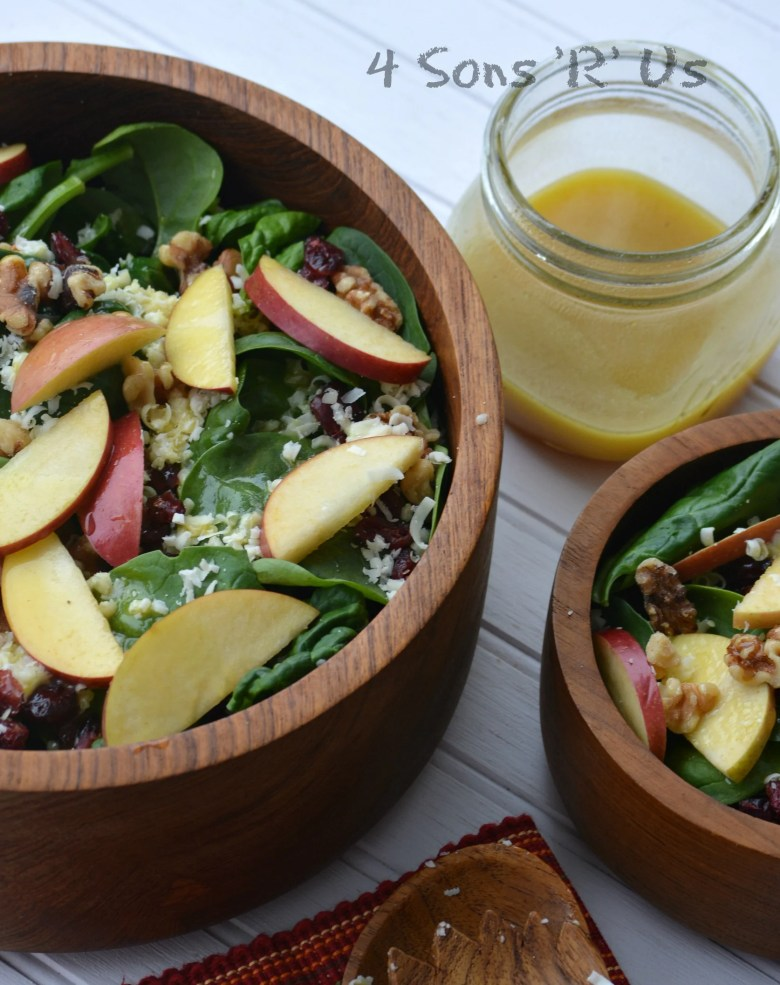 Spinach Salad with Apples, White Cheddar, Nuts & Berries with Honey Vinaigrette 2