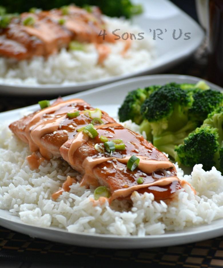 Teriyaki Salmon with a Sriracha Cream Glaze 2