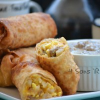 Breakfast Eggrolls with Sausage Gravy