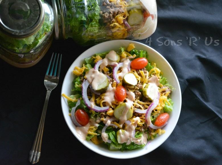 Cheeseburger Mason Jar Salad 4