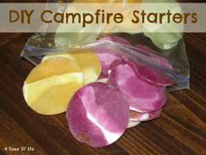 4 Sons 'R' Us: DIY Campfire Starters