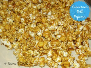 4 Sons 'R' Us: Cinnamon Roll Popcorn
