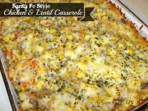 4 Sons 'R' Us: Santa Fe Style Chicken & Lentil Casserole