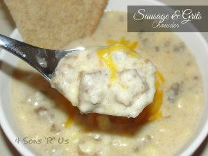 4 Sons 'R' Us: Sausage & Grits Chowder 2