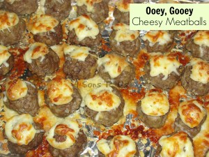Ooey, Gooey Cheesy Meatballs