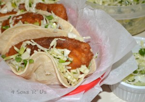 Beer Battered Fish Tacos with Cilantro Slaw