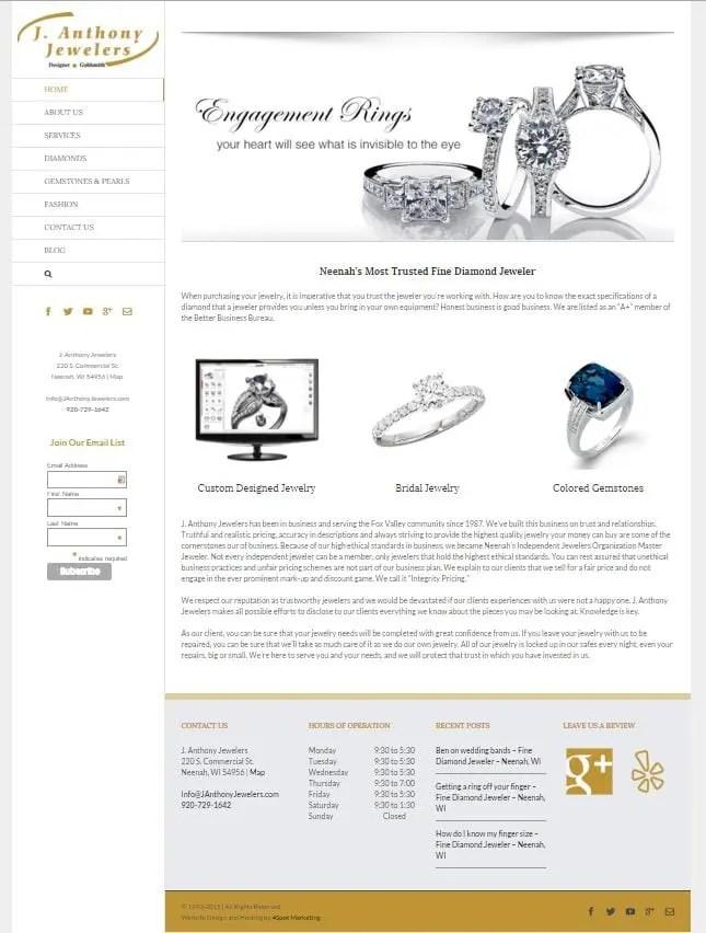 Jewelry Marketing Websites SEO