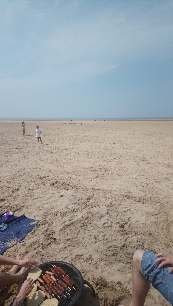 Low tide at Ainsdale Beach