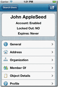 iPad Active Directory management - Active Directory Assists User