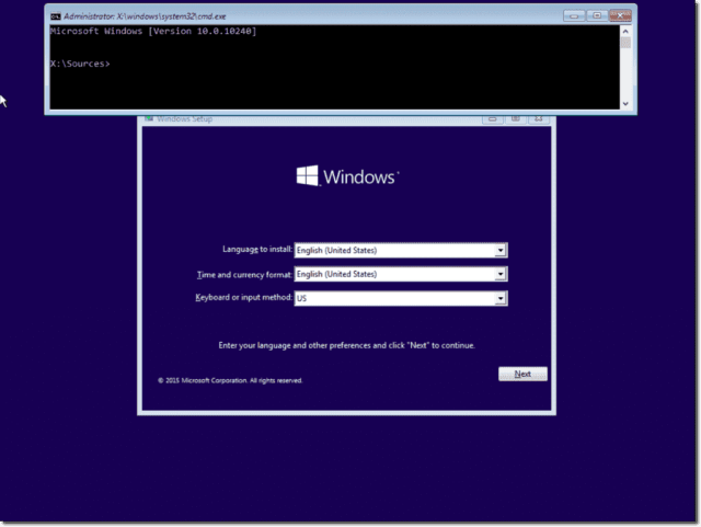 Offline activate the built-in administrator on Windows 28 without