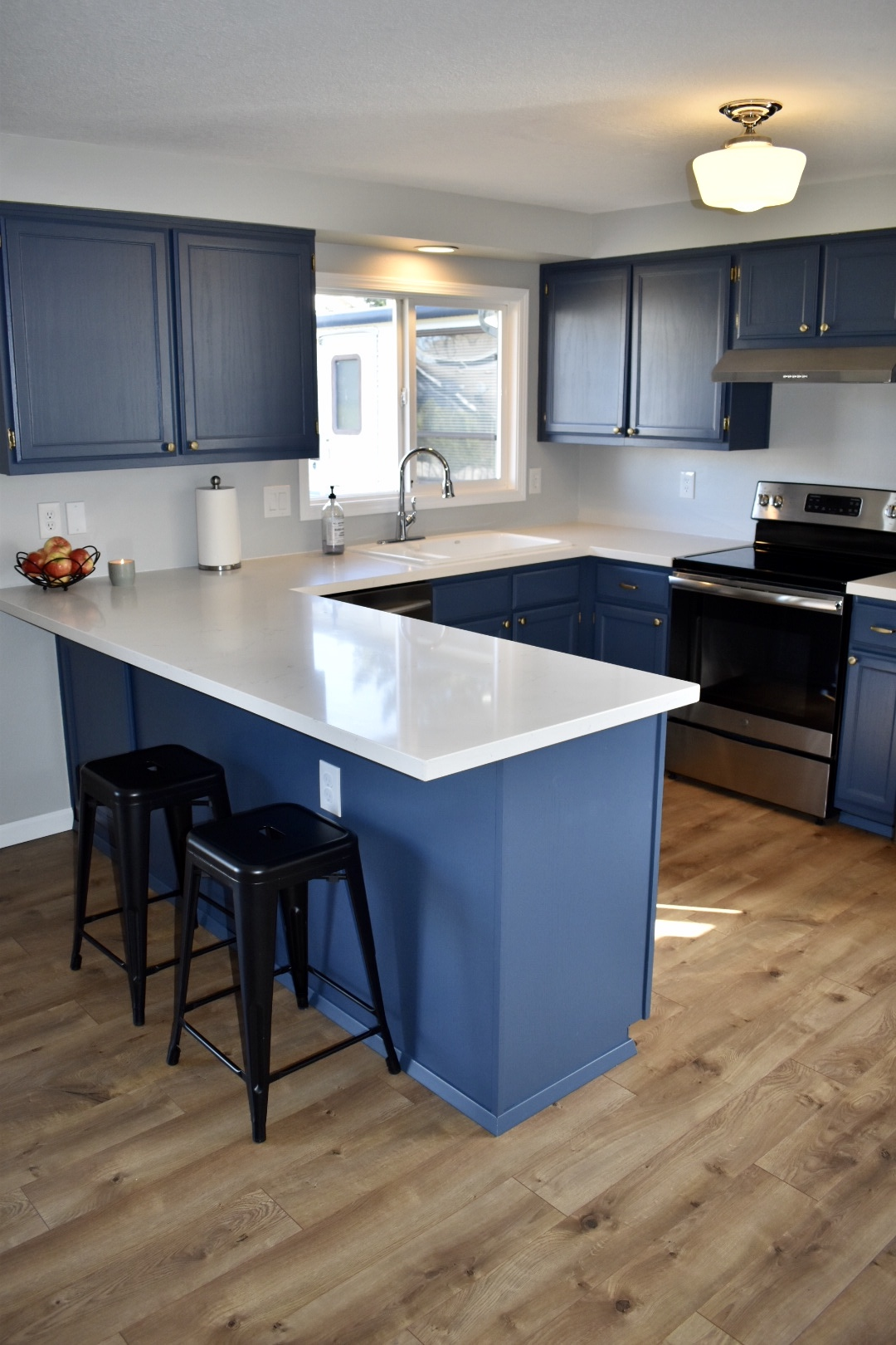 Owner Project Painting Old Kitchen Cabinets 4th Avenue Homes General Contractor