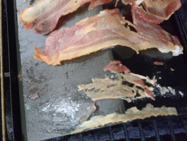bacon grilling rack stuck on bacon