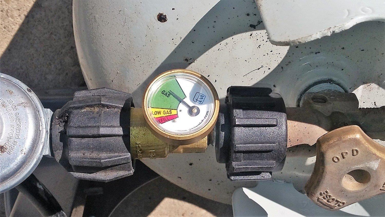 Does a propane tank gauge work
