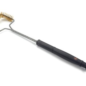 Grill brush brass trapezoid shaped head