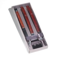 Rosewood handle grill tool set