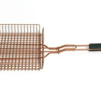 Copper look grill basket