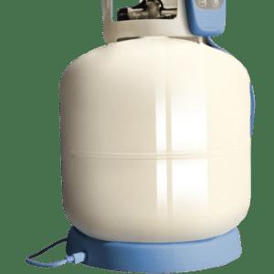 Gaswatch propane tank scale mounted blue