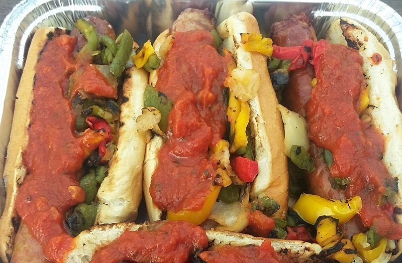 Italian Sausages on the Grill