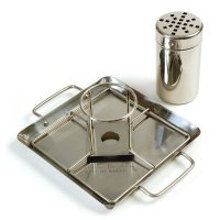 Beer Can Chicken Holder with Drip Pan and Can