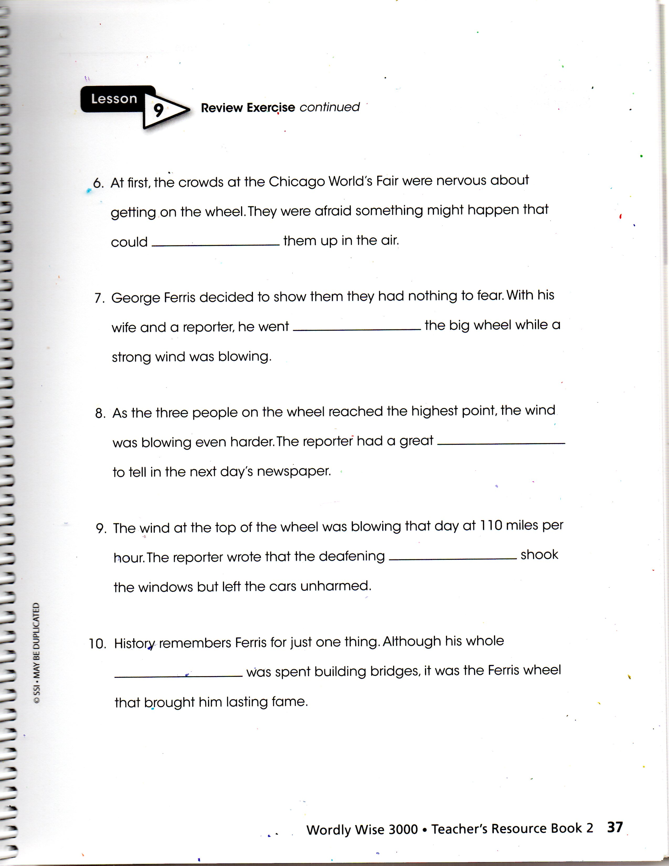 Wordly Wise Book 6 Worksheets