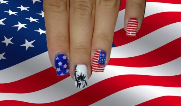 Beautiful 4th of July nails designs