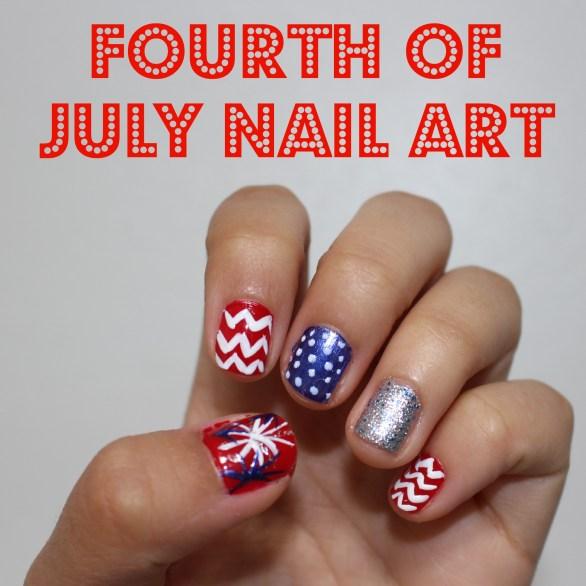 Fourth of July Nail Arts