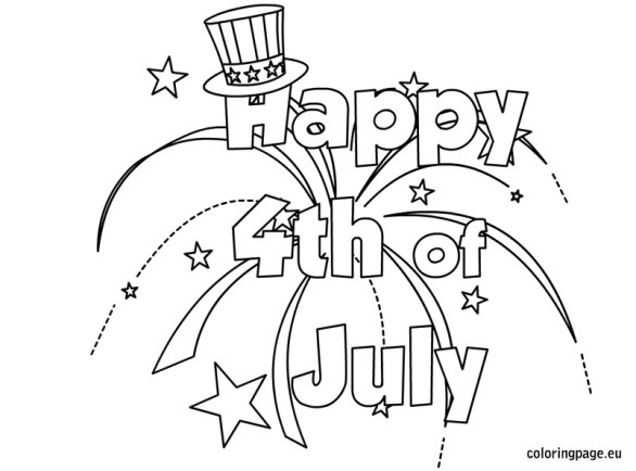 Happy 4th Of July Coloring Pages