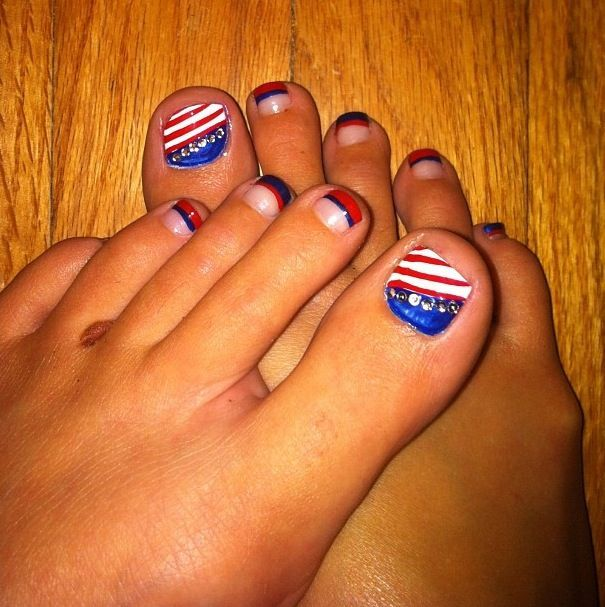 Happy 4th of July Nail Art 2018 | Fourth of July Nails Designs ...