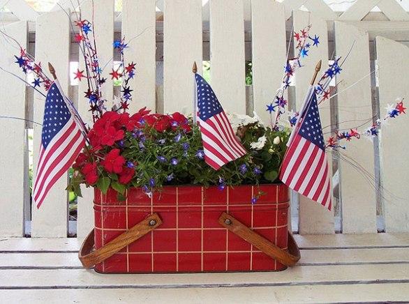 4th of July patriotic basket