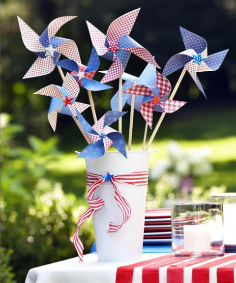 Easy homemade 4th of July decorations