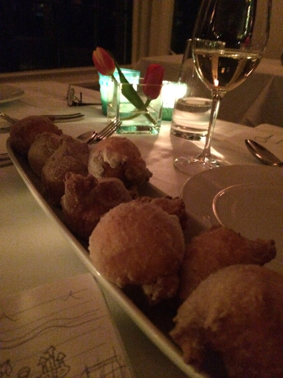 The beignets for dessert at Ocean, Kennebunkport.