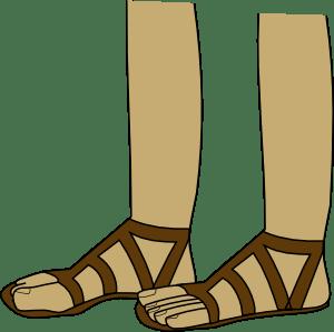Feet In Sandals Clip Art Free Vector 4Vector
