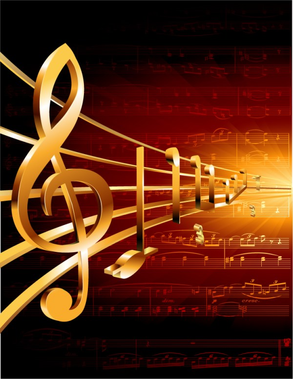 Gorgeous classical music background 05 vector Free Vector ...
