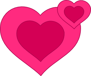 Download Two Pink Hearts Together clip art (103323) Free SVG ...