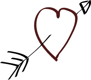 Download Valentine Heart Arrow clip art (108305) Free SVG Download ...