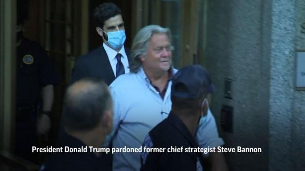 Trump pardons Steve Bannon, dozens of others