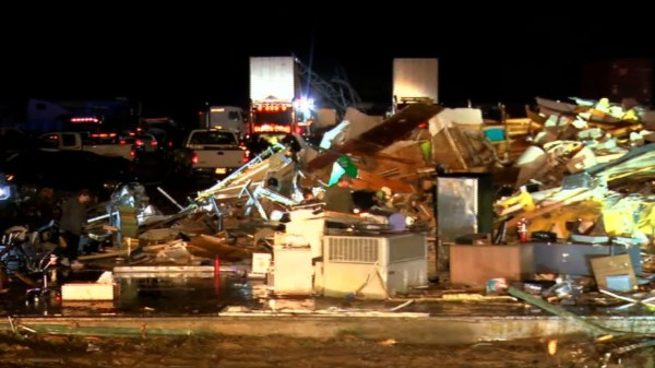 Video shows severe damage after Alabama tornado