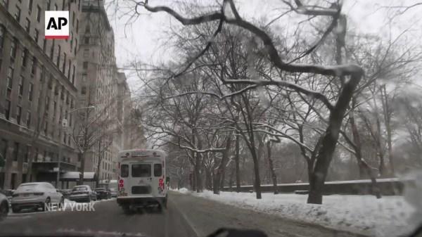 Winter storm dumps snow on New York City