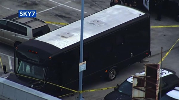 Two killed as gunfire hits California party bus