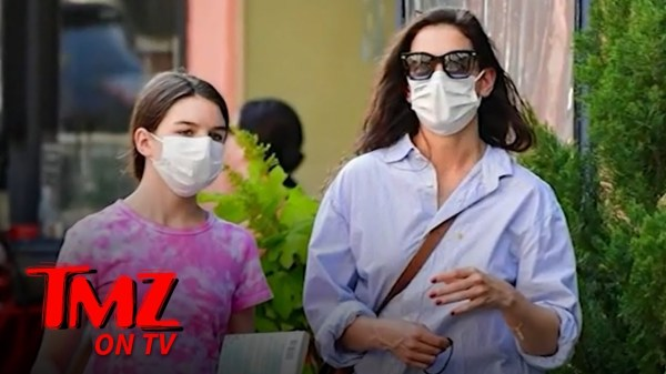 Katie Holmes Steps Out in NYC with Daughter Suri Cruise   TMZ TV