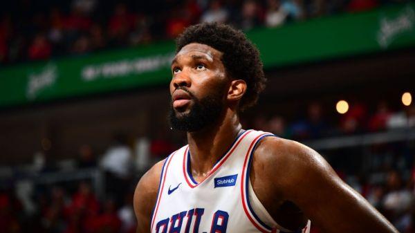 Bothered by ailing knee, Philadelphia 76ers' Joel Embiid fades in second half as Atlanta Hawks rally to tie series