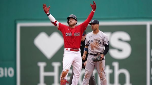 Boston Red Sox end Domingo German's no-hit bid in 8th inning, storm back to beat New York Yankees